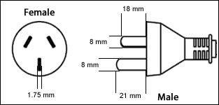 China GB2099 3 Pin 16 Amp