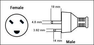 Denmark AFSNIT 107-2-D1 3 Prong 13 Amp
