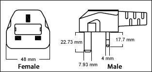 Hong Kong BS1363 3 Pin 13 Amp