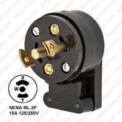 hubbell midget twist lock conecter