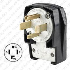 Nema 14 30 >> Hubbell Hbl9432c Ac Plug Nema 14 30 Male Angled