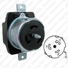 50 Amp Receptacle >> Cs8369 Buy Hubbell Cs8369 Ac Receptacle Ca Std 50a 3 Phase 250