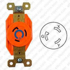 Miraculous Hubbell Ig2320 Ac Receptacle Nema L6 20 Female Orange Wiring Database Gramgelartorg