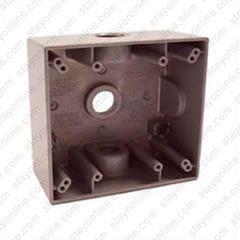 Amazing Electrical Box 2 Gang Die Cast Aluminum 1 2 Inch Thread Gray Wiring Digital Resources Antuskbiperorg