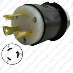 hubbell hbl2621 ac plug nema l6 30 male 30 amp 250 volt plug wiring diagram how to wire twist lock plugs