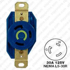 Awe Inspiring Hubbell Hbl2610M6 Ac Receptacle Nema L5 30 Female Blue 125 Wiring 101 Louspimsautoservicenl