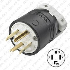 Nema 14 30 >> Hubbell Hbl9431c Nema 14 30 Male Plug