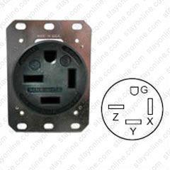 HUBBELL HBL8450A AC Receptacle NEMA 15-50 Black 250 Volt 50 Amp on