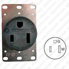 50 Amp Receptacle >> Hubbell Hbl9360 Ac Receptacle Nema 5 50 Female Black 125 Volt 50 Amp