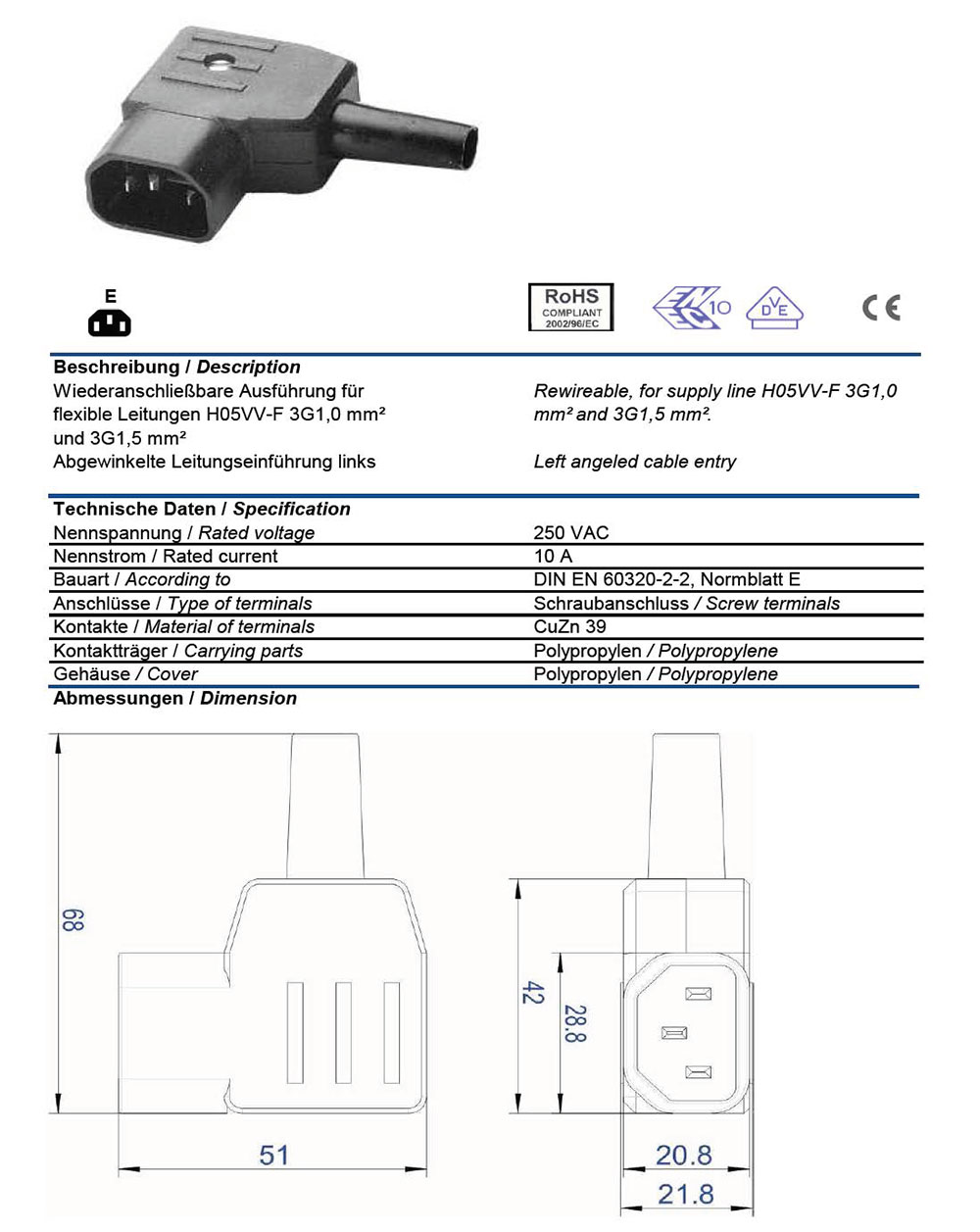 Iec C14 Ac Wiring Diagram Connector Types Plugs And Receptacle Sockets Chart