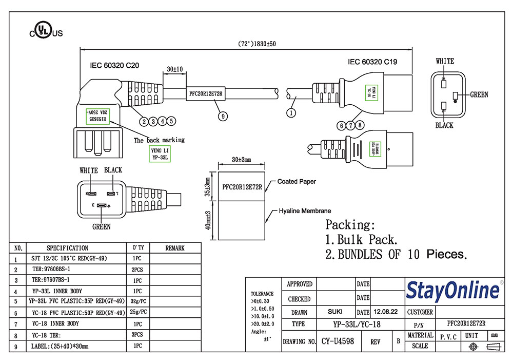 C19 Plug Wiring Diagram. . Wiring Diagram Fan Harness Ceiling Wire K H on